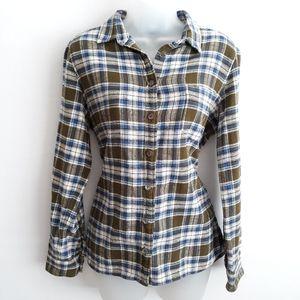 J. Crew plaid heavy cotton shirt